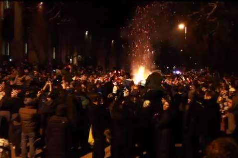 Michigan State Fans Riot After Spartans Win Big Ten Title Game