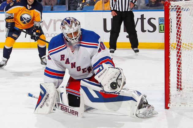 Lundqvist Hooked After Three First-Period Goals as Rangers' Woes Continue