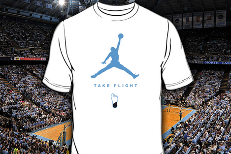 Photo: UNC Will Give Away Jordan Brand Shirts for UK Game, Calls for White out