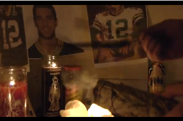 One Green Bay Fan's Ritualistic Attempt to Heal Aaron Rodgers