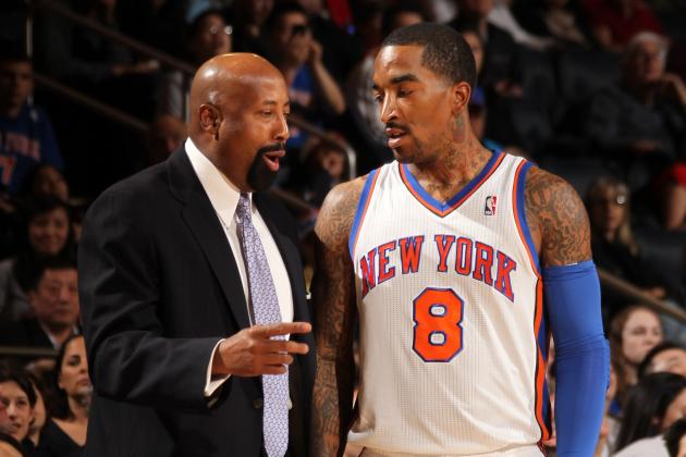 Mike Woodson Defends JR Smith: 'I Don't Think He's Still 100 Percent'