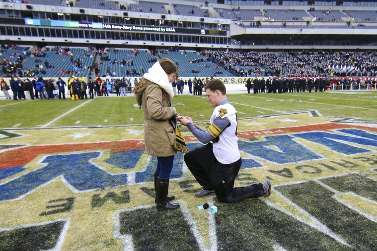 Black Knights' Colin Joy Proposes to Girlfriend Before Army-Navy Game