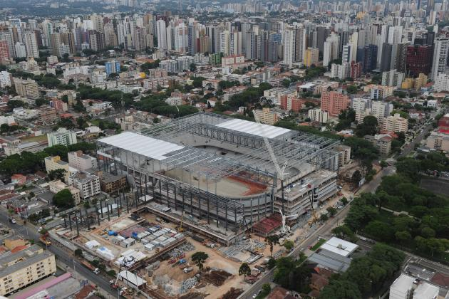 Workers on Strike over Late Pay at Delayed Brazilian World Cup Stadium