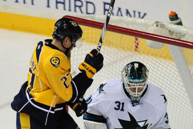 San Jose Sharks Fall to Nashville Predators 3-2