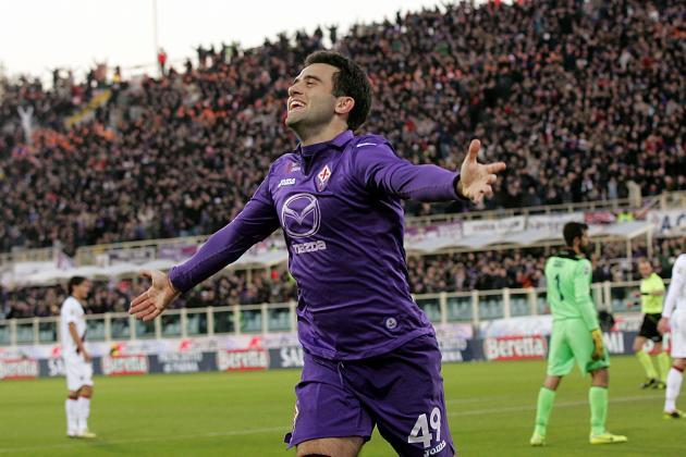 GIF: Giuseppe Rossi Scores Superb Lobbed Goal for Fiorentina vs. Bologna