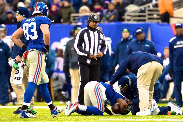 Victor Cruz Injury: Updates on Giants WR's Concussion, Knee and Return