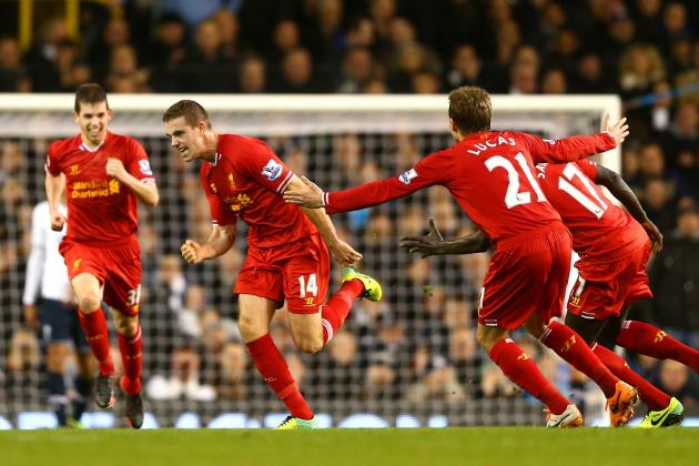 Liverpool Midfield Shines in Dismantling Tottenham in Absence of Steven Gerrard