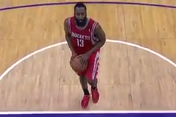 James Harden Shoots Free Throws on 1 Foot After Injury