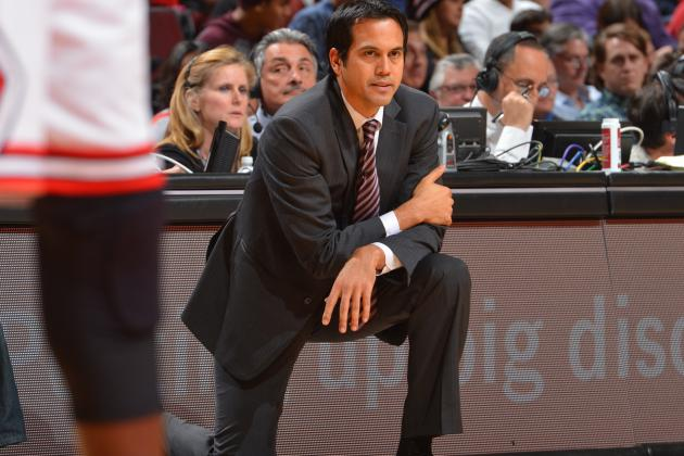 Erik Spoelstra Danced Around Greg Oden Questions at Shootaround