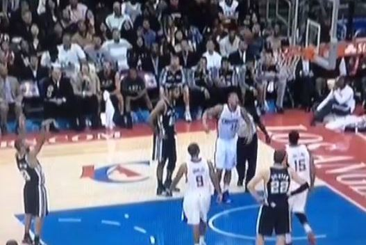 Tony Parker Air-Balls Free-Throw Attempt Against Clippers