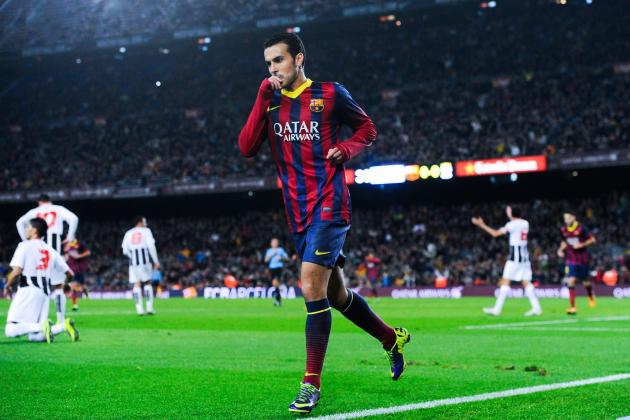 GIF: Pedro Scores for Barcelona vs. Cartagena in Copa Del Rey