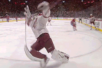 VIDEO: Coyotes Goalie Mike Smith Really Sells This Tripping Call