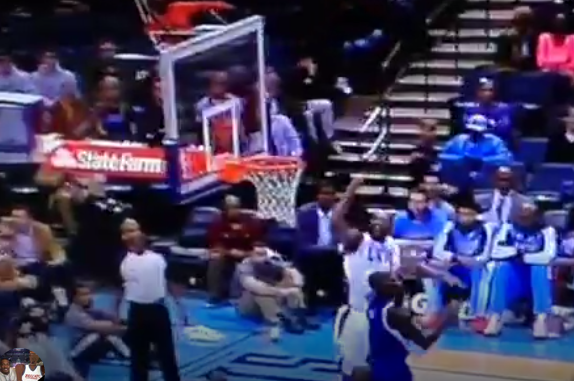 Al Jefferson's Hook Shot Lands on Top of the Backboard