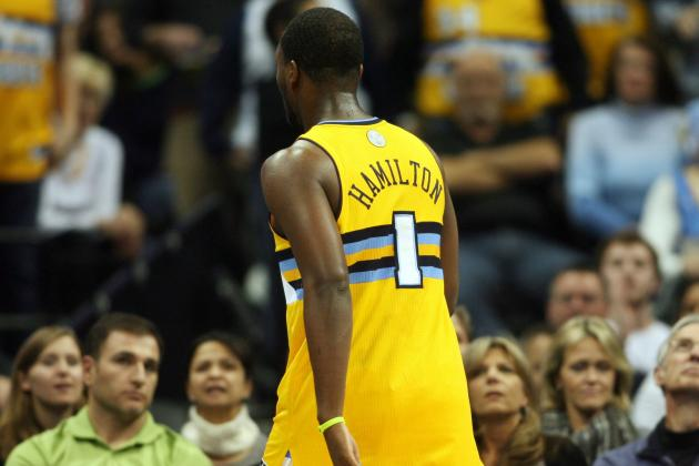 Nuggets' Hamilton Suspended for Throwing Punch