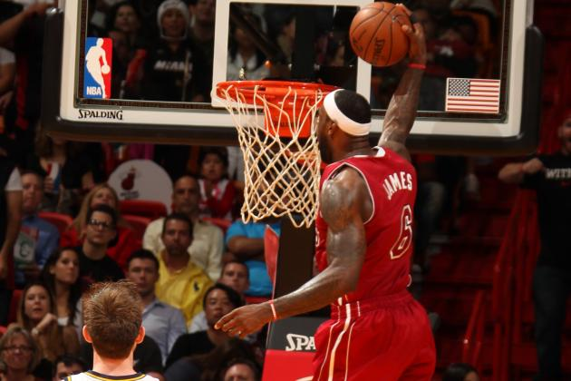 Video: LeBron Skies for Jam, Ankle Looks OK