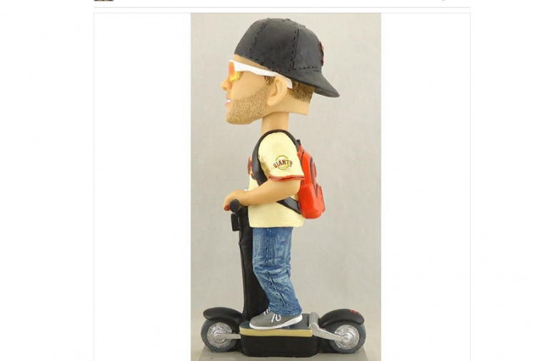 Giants Outfielder Hunter Pence's Bobblehead Has Him Riding a Scooter