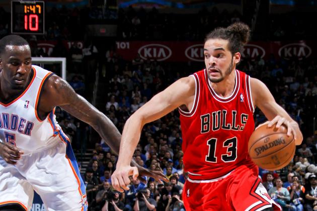 Kendrick Perkins Kicks Joakim Noah out of Thunder Locker Room