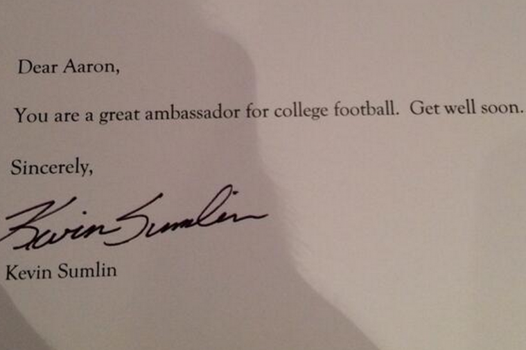 Georgia QB Aaron Murray Receives Classy Letter from Aggies Coach Kevin Sumlin