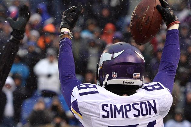 Vikings Receiver Simpson Has No Trouble Finding Drama On, off Field
