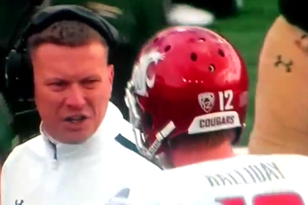 Colorado State Coaching Staff and Washington State's Connor Halliday Get into It