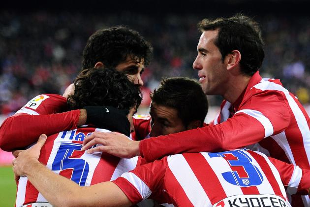 GIF: Diego Godin Scores 1st Goal of Season for Atletico Madrid, Big Celebration