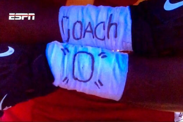 USC Players Show Love for Ed Orgeron in 2013 Las Vegas Bowl