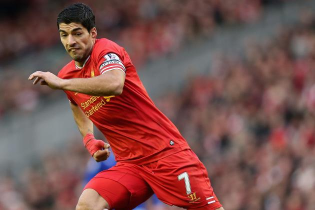 Luis Suarez Tipped to Break Premier League Goal-Scoring Record at Liverpool