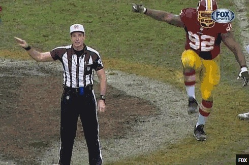 The Redskins' Chris Baker Has the New Best Celebration GIF on the Internet