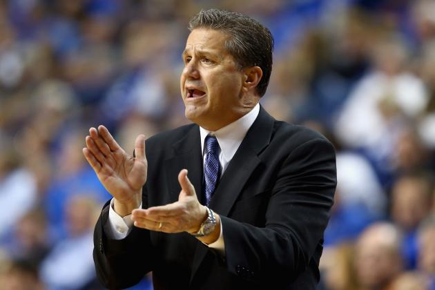 John Calipari Spends His Sunday Watching Karl Towns