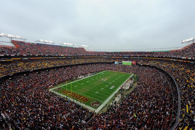 Redskins Fan Tumbles Down Steps