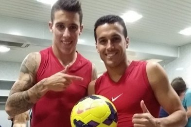 Mystery Player Naked Photobombs Cristian Tello's Barcelona Dressing Room Pic