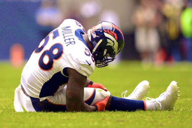 Von Miller Will Miss Remainder of Season with Torn ACL