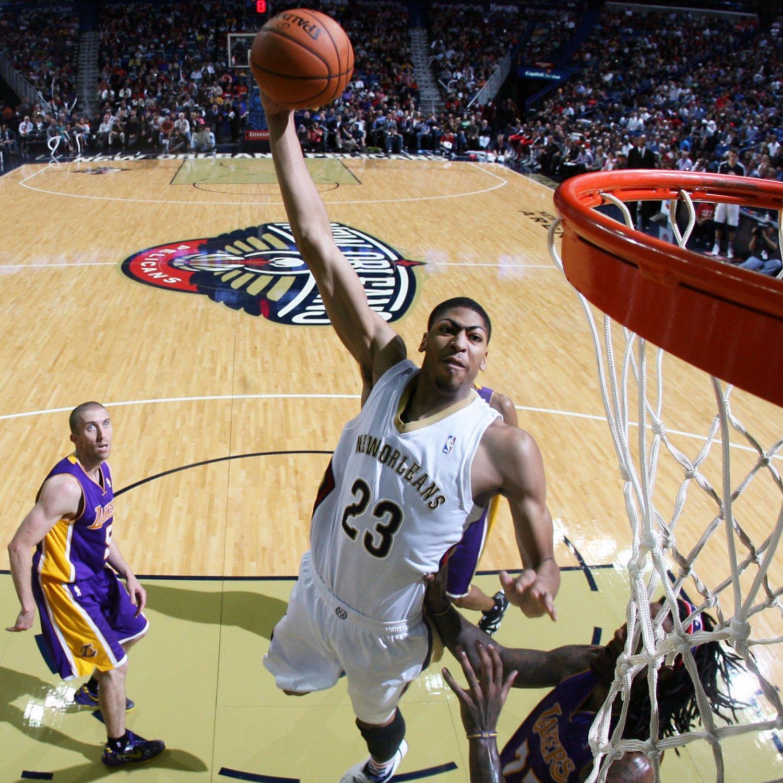 Anthony Davis Dunks On Jordan Hill NBAimages