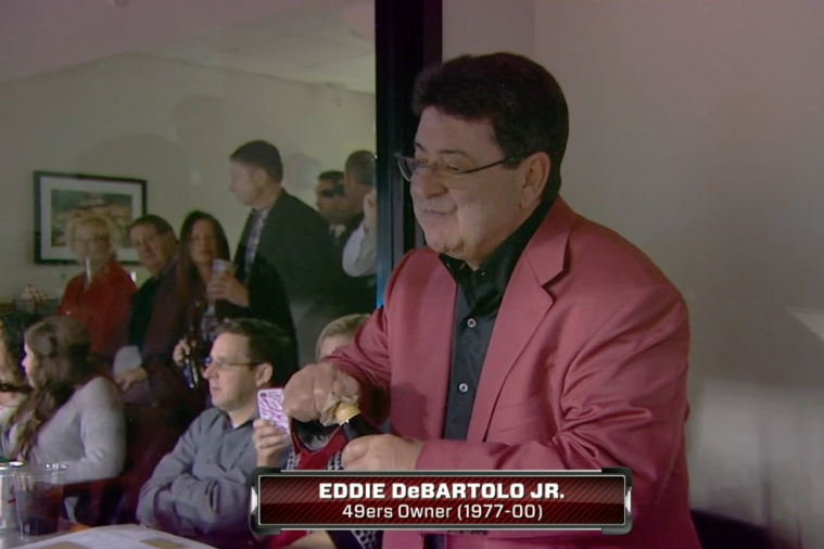 Former 49ers Owner Eddie DeBartolo Jr. Struggles to Open Beer