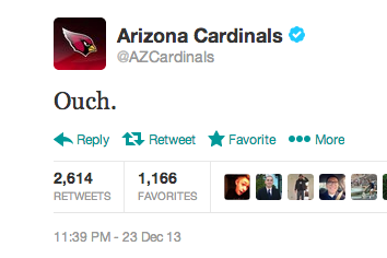 Cardinals Official Twitter Reacts to Bowman's Pick-6