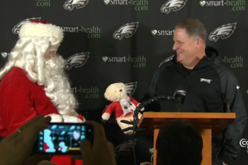 Santa Claus Crashed Chip Kelly's Press Conference