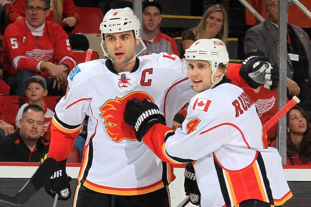 Joe Colborne and Mark Giordano Lift Flames to Shootout Win over Blues