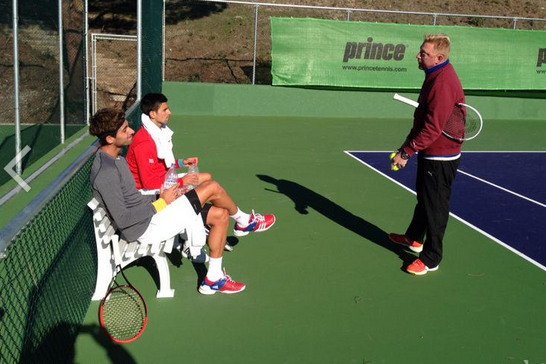 Becker, Djokovic Together for 1st Time
