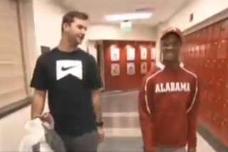 AJ McCarron Forms a Heartwarming Friendship with Alabama Cerebral Palsy Student