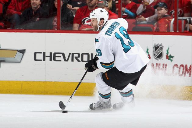 Joe Thornton Just Keeps on Giving for the San Jose Sharks