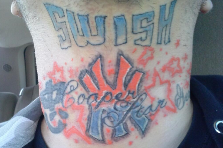 Huge J.R. Smith Fan Gets Questionable Neck Tattoo in Tribute to the Knicks Star