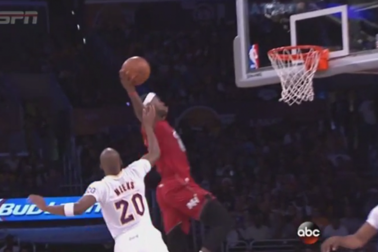 LeBron James Throws Down Massive Alley-Oop Dunk Off Dwyane Wade Lob