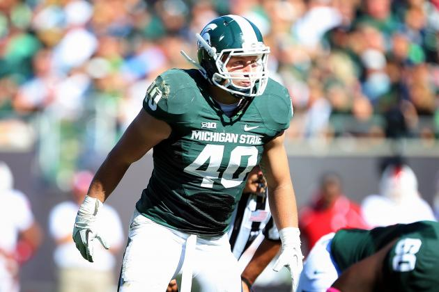 Max Bullough Suspended by Michigan State for Rose Bowl vs. Stanford