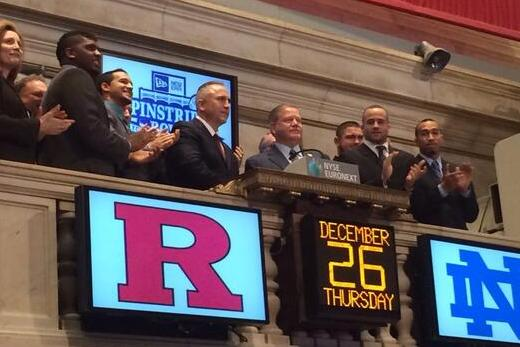Video: Notre Dame's Brian Kelly, Rutgers' Kyle Flood Rang the NYSE Bell