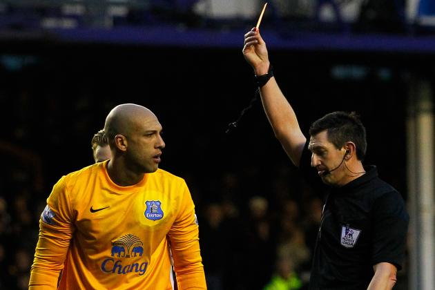 Tim Howard Red Card: How Everton Will Cope in Star's Absence