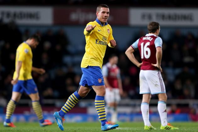 West Ham United vs. Arsenal: Live Player Ratings for the Gunners