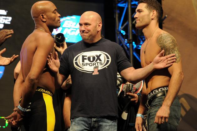 Weidman vs. Silva 2: Where and When to Watch Saturday's UFC 168 Main Event