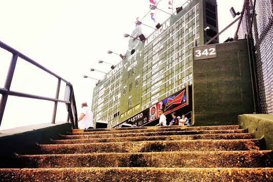 Image: Walking Up Wrigley's CF Bleachers