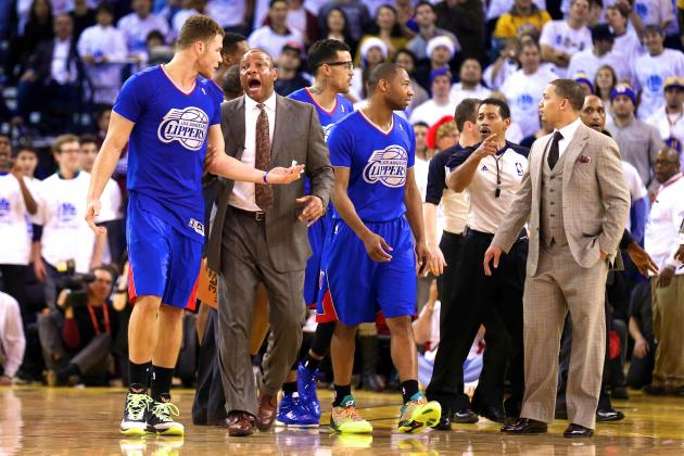 Blake Griffin Ejected After Run-Ins with Draymond Green, Andrew Bogut