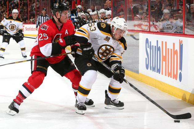 What Is on the Line in the Bruins' Home-and-Home Series with the Senators?